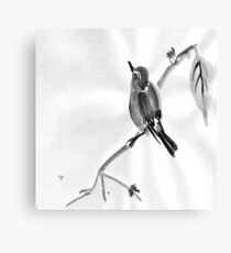Sumi-E Wren Drawing Canvas Print
