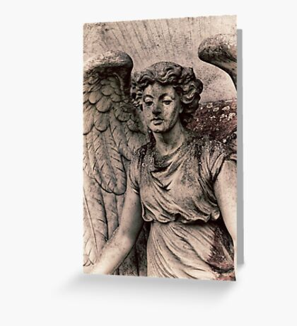 Angel with a dirty face Greeting Card