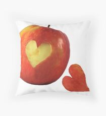 I Love Apples Throw Pillow