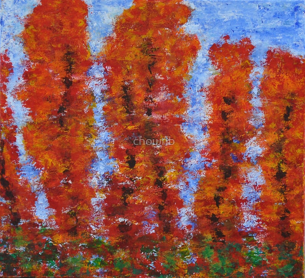 026 Red Trees by chownb