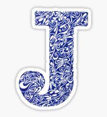 Margin J Letter Sticker