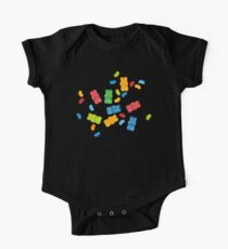 Jelly Beans & Gummy Bears Pattern One Piece - Short Sleeve
