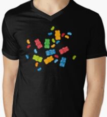 Jelly Beans & Gummy Bears Pattern T-Shirt