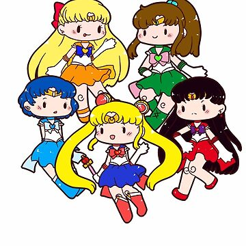 Sailor Moon - Chibi Inner Scouts by ateliershoshi