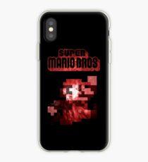 Mario Minimalist Nebula Design iPhone Case