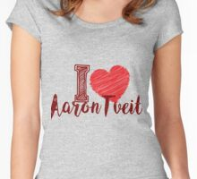 I Love Aaron Tveit Women's Fitted Scoop T-Shirt