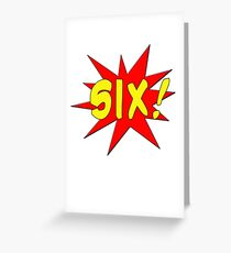 Superhero Kids Birthday Comic Style I'm Six! Greeting Card