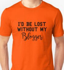Sherlock - I'd be lost without my Blogger T-Shirt