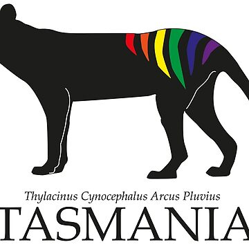 Rainbow Thylacine, Tasmania (dark back version) by phleabytes