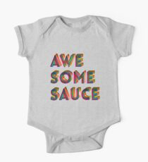Awesome Sauce Typography Design  One Piece - Short Sleeve