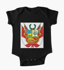 Peru Coat of Arms  If you like, please purchase an item, thanks One Piece - Short Sleeve