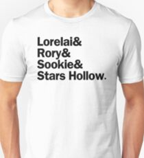 Gilmore Girls - Lorelai & Rory & Sookie & Stars Hollow   White T-Shirt