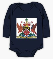 The Coat of Arms of Trinidad and Tobago  If you like, please purchase an item, thanks One Piece - Long Sleeve