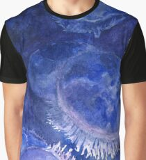 Watercolor Moon Jellyfish at the Seattle Aquarium Graphic T-Shirt