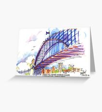 Under the Sydney Harbour Bridge Greeting Card
