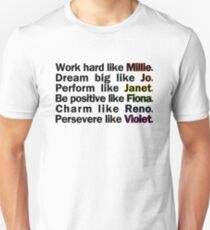 Admirable Characteristics of Sutton Foster Characters | White Unisex T-Shirt