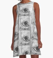 California Graffiti Eye A-Line Dress