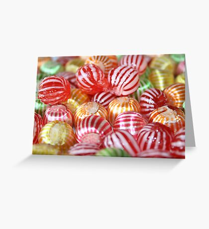 Striped Candy  Greeting Card