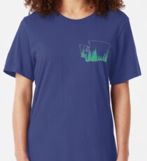 Evergreen State Outline Slim Fit T-Shirt