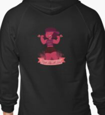 Fight Like A Girl Zipped Hoodie