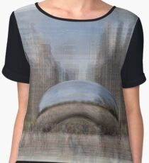 Cloud Gate, Chicago Bean Women's Chiffon Top