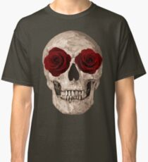 Sweet Skull of Roses gothic cute sexy t-shirt Classic T-Shirt