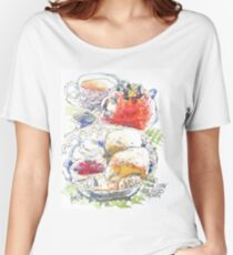 Tea and Scones Women's Relaxed Fit T-Shirt
