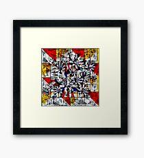 Daisy Abstract after Mondrian Framed Print