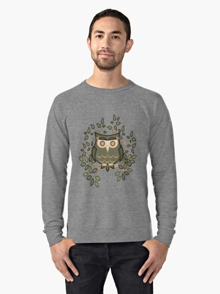 Mr Toot .. The Wise Owl Lightweight Sweatshirt Front