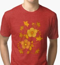 Shades of yellow .. flower design Tri-blend T-Shirt