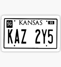 Impala's License Plate Sticker