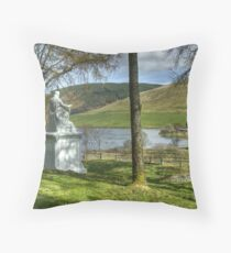 The Ettrick Shepherd and St Mary's Loch Throw Pillow