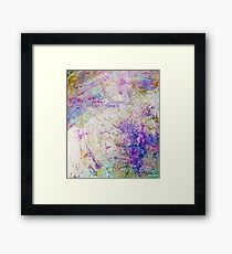 Funky abstract colorful ink design Framed Print
