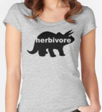 Herbivore (triceratops) Women's Fitted Scoop T-Shirt