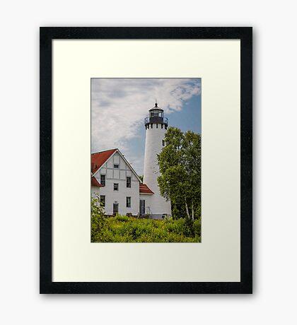 Point Iroquois Lighthouse - Michigan Framed Print