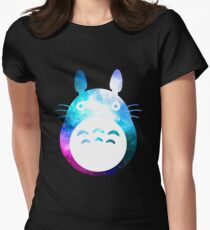 Galaxy Totoro! Womens Fitted T-Shirt