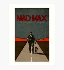 MAD MAX - The Road Warrior Custom Poster Art Print