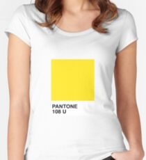 Pantone 108U Women's Fitted Scoop T-Shirt