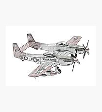 North American F-82 Twin Mustang Photographic Print