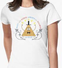 Bill Cipher -- Art Nouveau Womens Fitted T-Shirt