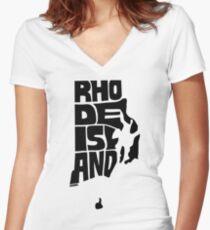 Rhode Island Women's Fitted V-Neck T-Shirt