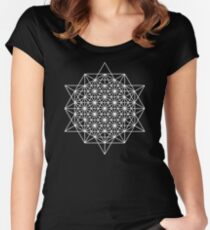 64 star tetrahedron sacred geometry  Women's Fitted Scoop T-Shirt
