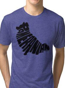 Pomeranian Black Tri-blend T-Shirt