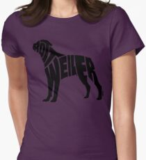 Rottweiler Black Womens Fitted T-Shirt