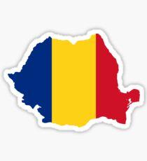 Romania Flag Map Sticker