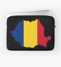 Romania Flag Map Laptop Sleeve