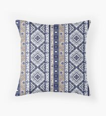 Abstract ornament. Rustic .  Throw Pillow