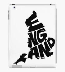 England Black iPad Case/Skin
