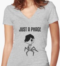 Just a Phage Women's Fitted V-Neck T-Shirt