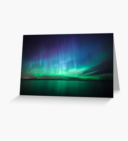 Beautiful northern lights Greeting Card